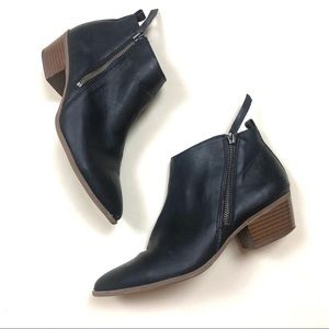 Circus by Sam Edelman Black Ankle Zipper Booties